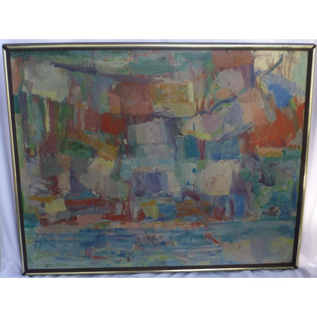 Signed Abstract Oil Painting by Jean Gunther, Listed Artist - Image 13 of 13