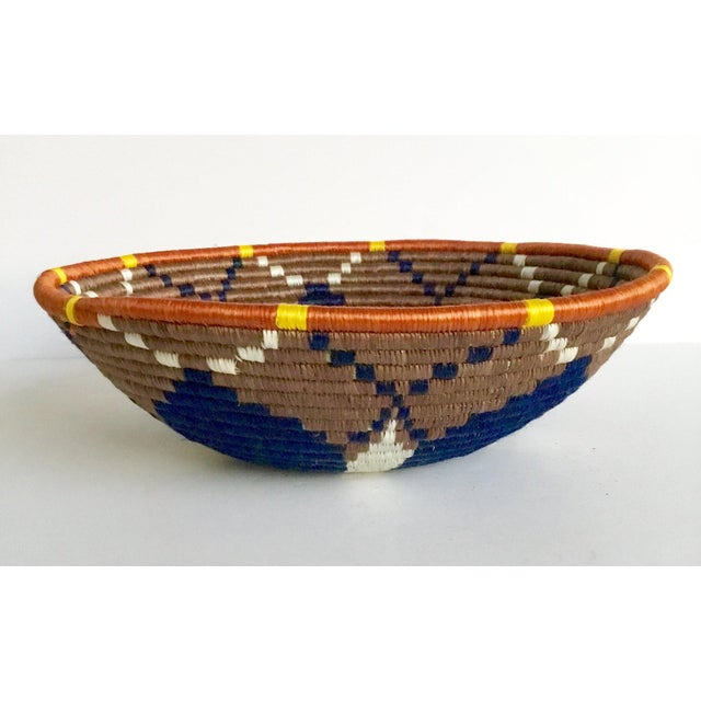 African Boho Woven Basket - Image 2 of 8