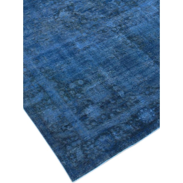 "Blue Vintage Overdyed Rug - 9'7"" X 12'7"" - Image 2 of 3"