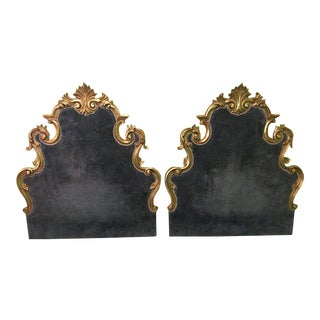 French Custom Twin / King Sized Hanging Headboards - A Pair