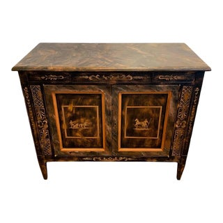 Fine Italian Neoclassical Painted Two-Door Commode For Sale
