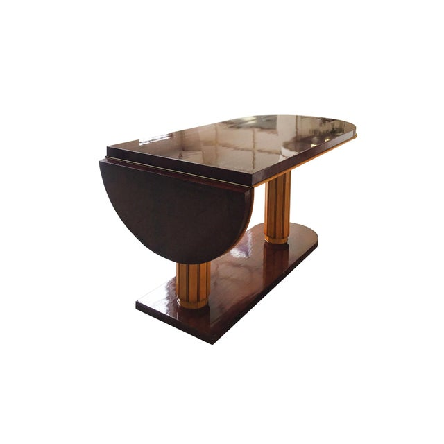 Gilbert Rohde Art Deco Oval Drop-Leaf Desk For Sale In New York - Image 6 of 13