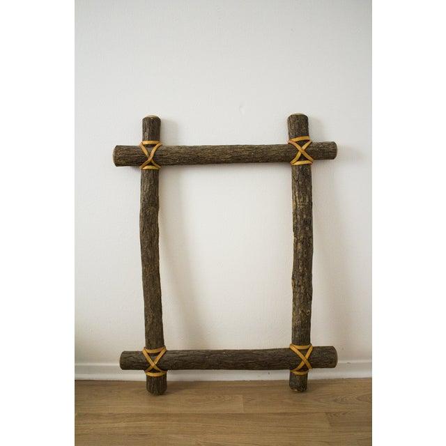Rustic Ash Log Frame - Image 2 of 4