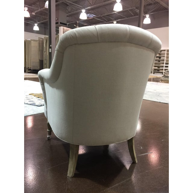 Traditional Clarendon White Tufted Chair For Sale - Image 4 of 7