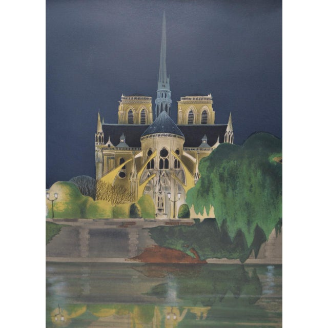 "French Vintage ""Notre-Dame De Paris"" Color Lithograph Signed / Numbered C.2004 For Sale - Image 3 of 10"