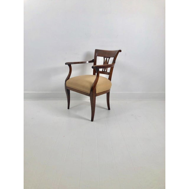 Early 19th Century Italian Neoclassical Armchairs C. 1830 - a Pair For Sale - Image 5 of 6