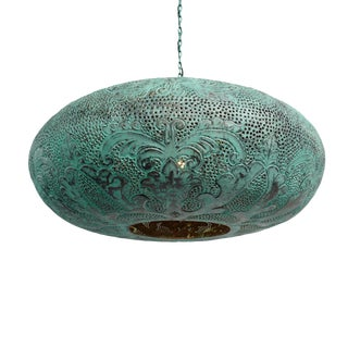 Verdigris Copper Ufo Lantern Large For Sale