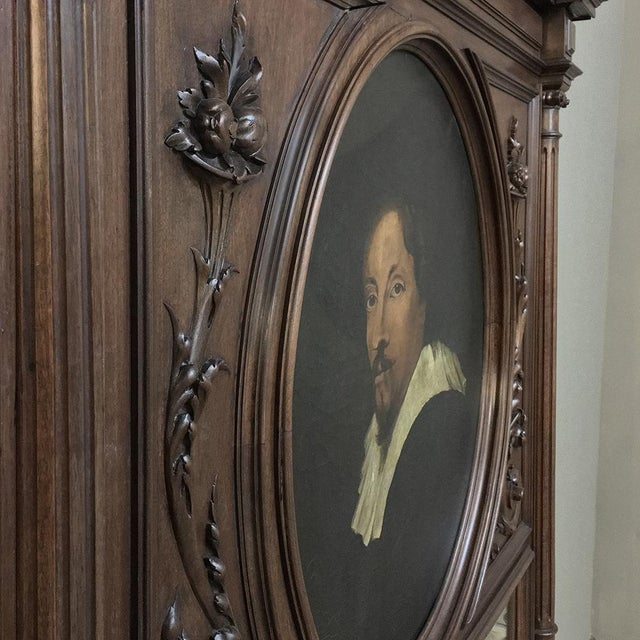 Brown Trumeau, 19th Century French Henri II in Walnut For Sale - Image 8 of 12