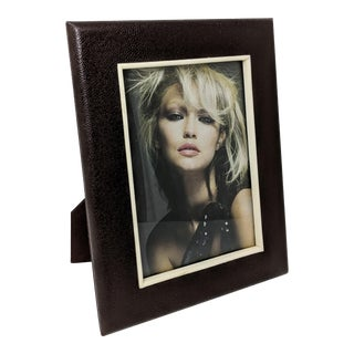 """Faux Shagreen and Faux Ivory 5"""" X 7"""" Photo Frame For Sale"""