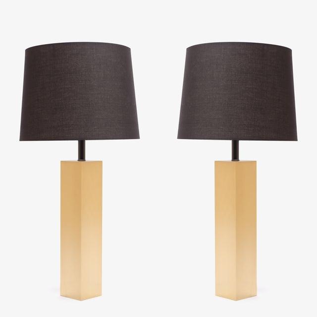 Minimalist Brushed Brass Lamps by L. Paul Brayton Ltd. - Image 3 of 8