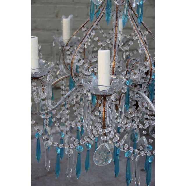 Italian Crystal Beaded Chandelier $3,400 For Sale In Los Angeles - Image 6 of 9