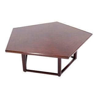 Edward Wormley for Dunbar Pentagonal Coffee Table For Sale