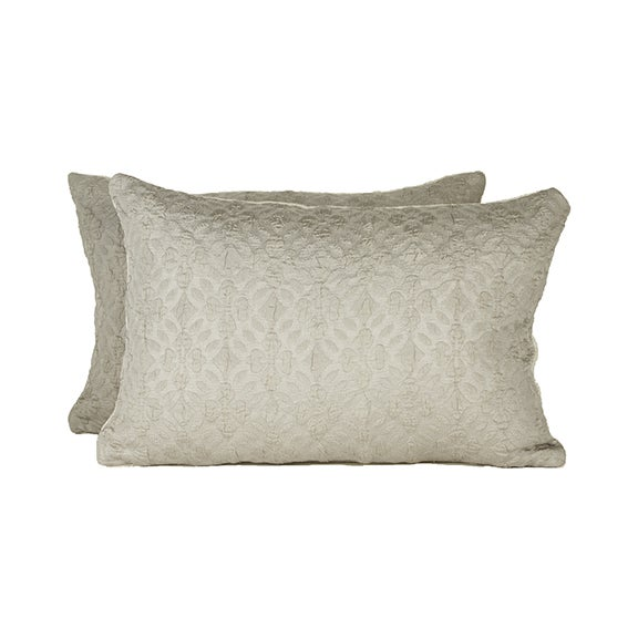 Highland Court by Duralee Silk Pillow - Pair - Image 1 of 2