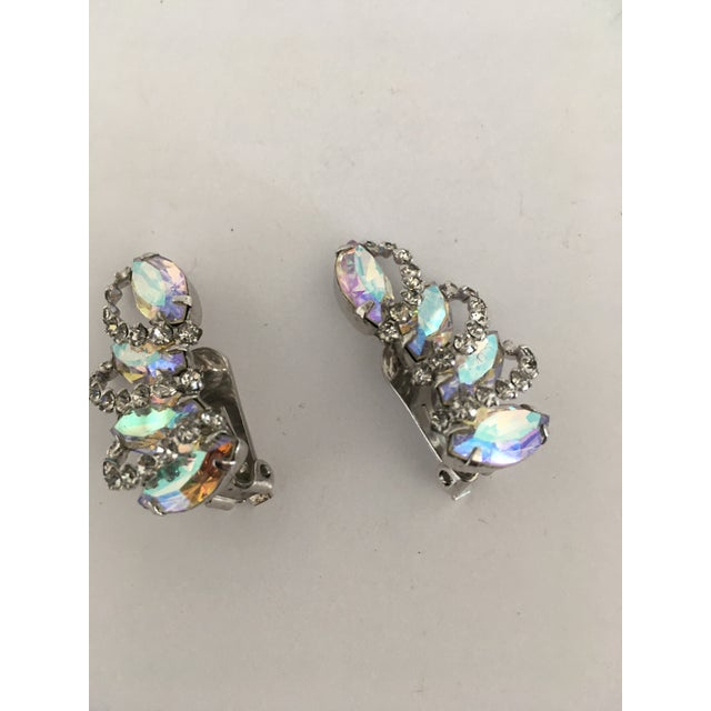 Weiss Vintage Weiss Rhinestone Clips - a Pair For Sale - Image 4 of 11