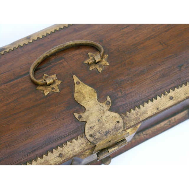 Vintage Wood Kerala Box II For Sale - Image 9 of 9