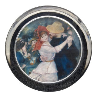 """Renoir's """"The Country Dance"""" Glass Paperweight For Sale"""