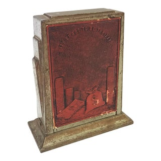1930's Art Deco Coin Bank With Photo Frame For Sale
