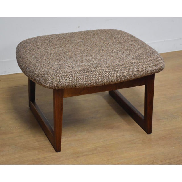 Brown Jens Risom Walnut Ottoman For Sale - Image 8 of 8