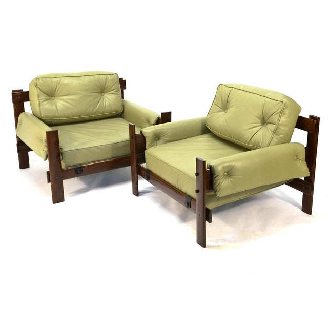 Percival Lafer Brazilian Leather Loungers - A Pair - Image 2 of 5