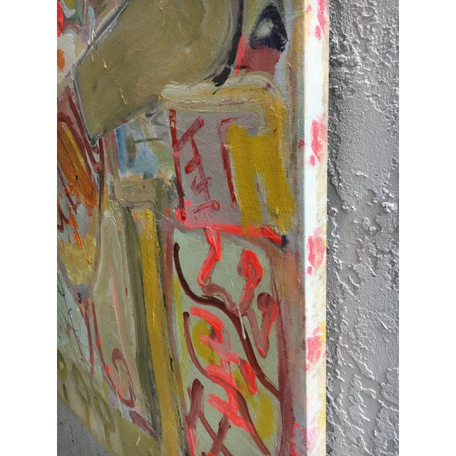 1990s Abstract Expressionist Whimsical Painting on Canvas For Sale - Image 5 of 9