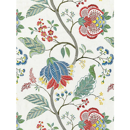 Traditional Scalamandre Palampore Embroidery, Bloom For Sale - Image 3 of 3