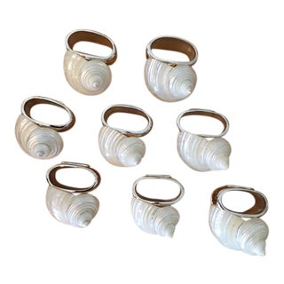 """Turbo Shell"" Hans Turnwald Napkin Rings - Set of 8 For Sale"