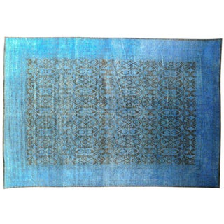 Distressed Blue Patterned - 12′ × 22′ For Sale