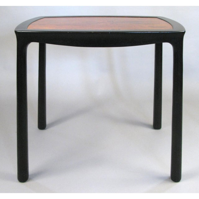 Dunbar Furniture Vintage 1960s Mahogany & Rosewood Table by Edward Wormley for Dunbar For Sale - Image 4 of 6