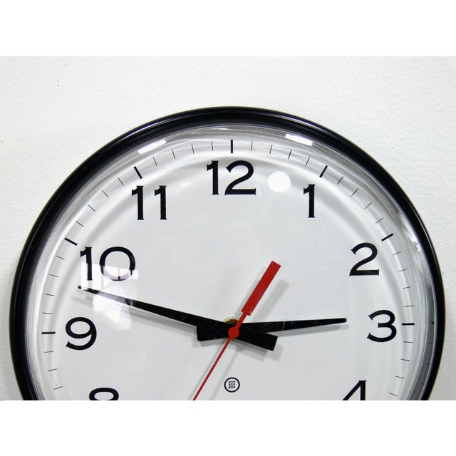 Vintage Industrial Modern Peter Pepper Products Wall Clock For Sale - Image 5 of 5