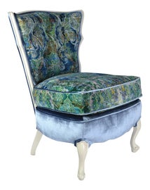 Image of Turquoise Slipper Chairs