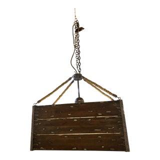 Billy Cart Wood Pendant Light For Sale