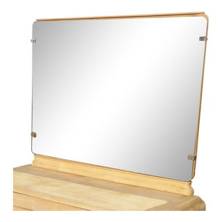 Vintage Mid Century Russell Wright Stardust Solid Maple Mirror For Sale