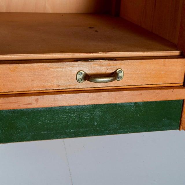 Champagne Adolf Maier Blonde Bauhaus Desk Locking Tambour Doors, Germany For Sale - Image 8 of 9