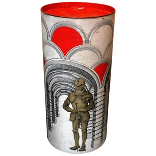 Piero Fornasetti Style Storage Box For Sale