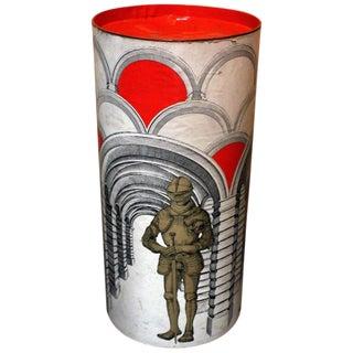 Piero Fornasetti Style Storage Box For Sale