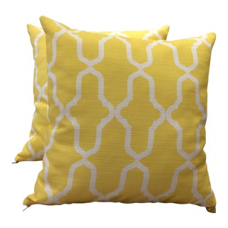 DWM | MALOOS Contemporary Morocco Yellow Pillows - a Pair For Sale