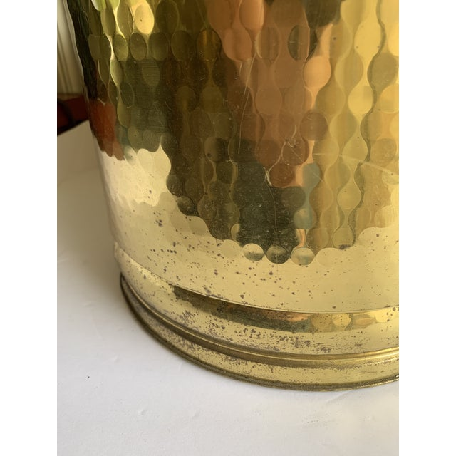 Brass Gold Metal Lion Head Vessels, Set of Two For Sale - Image 7 of 13
