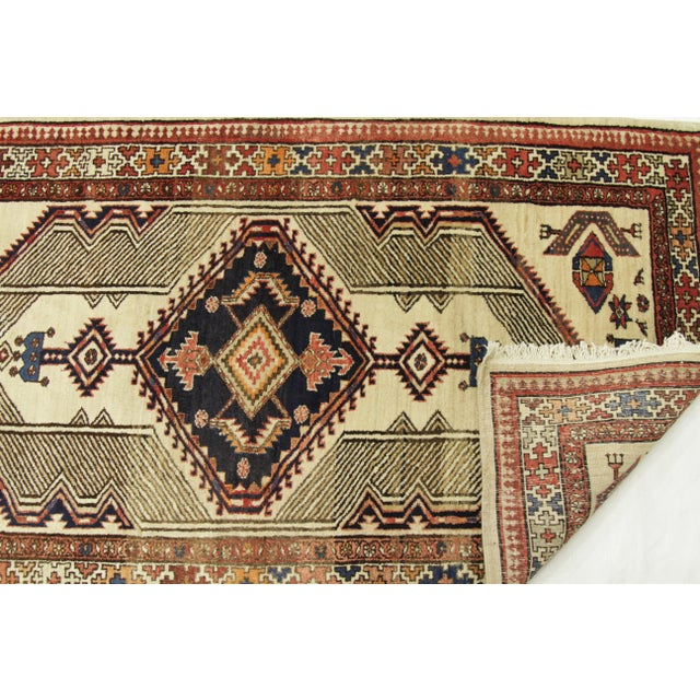 Antique Persian Sarab Rug With Incredibly Detailed Tribal Design - 3′9″ × 15′4″ For Sale - Image 9 of 11