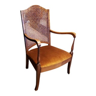 Early 20th Century Cane Back Parlor Chair C.1920 For Sale