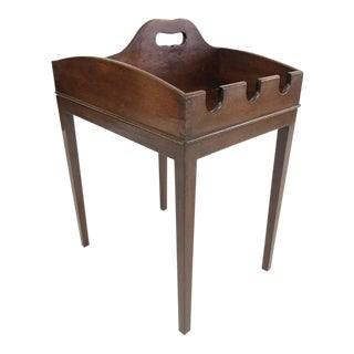 19th Century English Mahogany Cider Tray Occasional Table For Sale