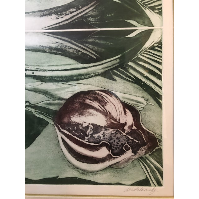 """1970s 1970s Vintage Artist Proof """"Orchid Mirror Variation"""" Print by Lois Polansky For Sale - Image 5 of 8"""