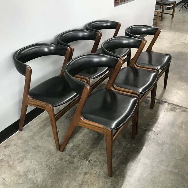 Set of 6 Kai Kristiansen Dining Chairs For Sale - Image 13 of 13