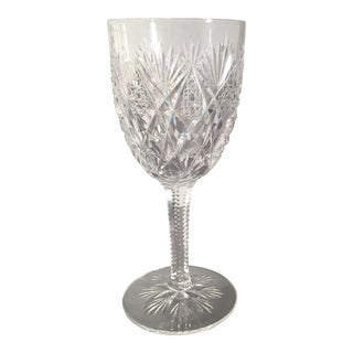 St Louis Florence Pineapple Cut Goblet For Sale