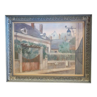 """1970s """"Road to Amboise"""" Wm. Benecke Orignal Oil Painting For Sale"""