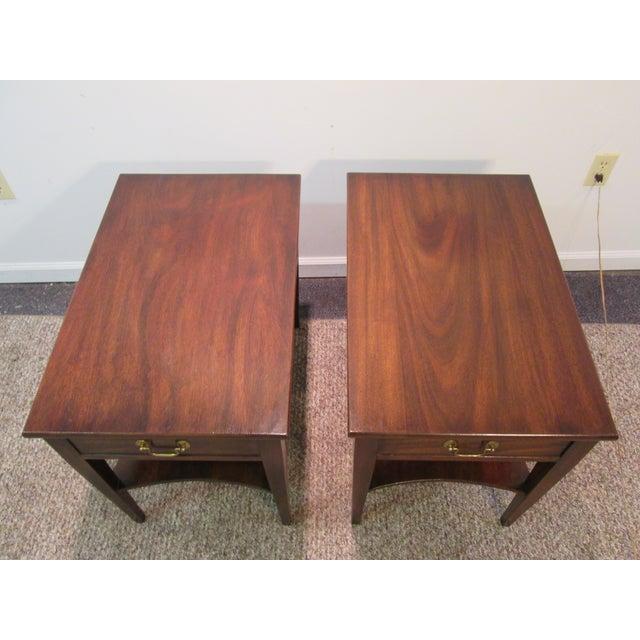 Henkel Harris Wood Side Tables - A Pair - Image 4 of 11
