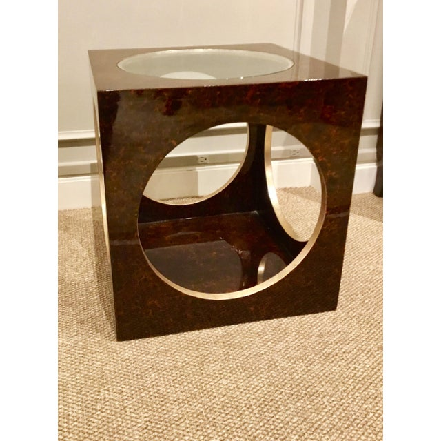 Contemporary Roulette Side Table For Sale - Image 3 of 7