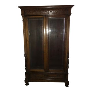 Bevelled Glass Armoire For Sale