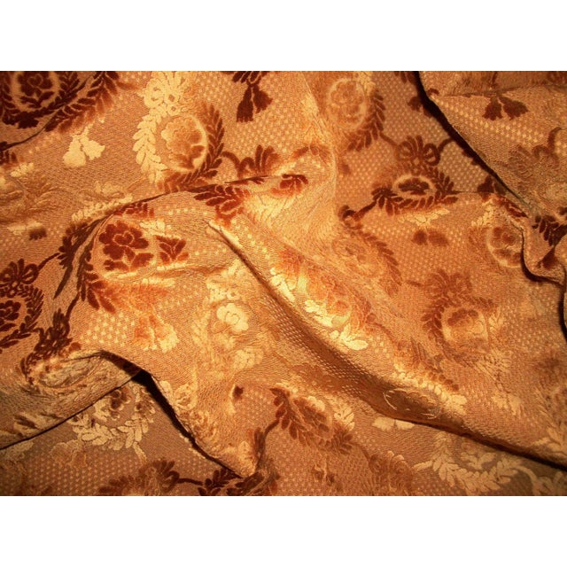 Luxurious antique 19th century fabric that is sure to add a regal quality to your favorite chair seat or sofa, if turned...