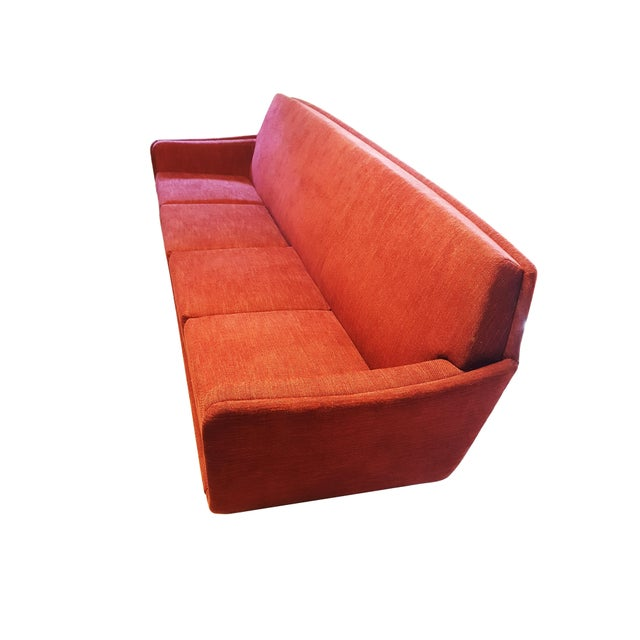 Large Danish mid-century / space age Folke Ohlsson for Dux red Sofa / couch Design by Folke Ohlsson for Dux Sweden Circa...