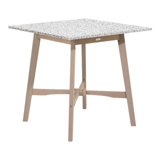 Wooden Outdoor Bar Table, Weathered Wood and Ash For Sale